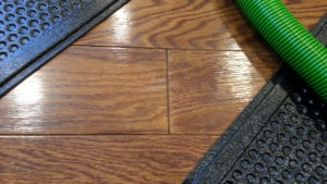Cracked finish engineered hardwood flooring water damage