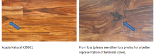 Laminate graphic comparison